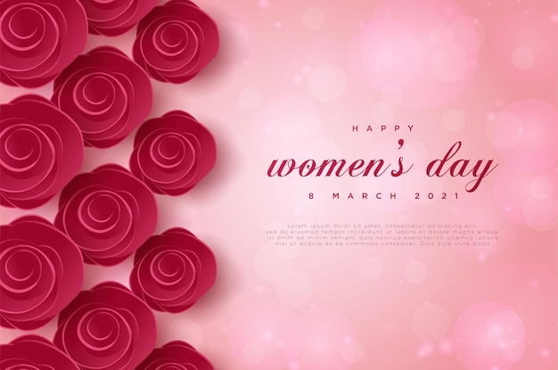 Buona festa della donna 8 marzo con i fiori