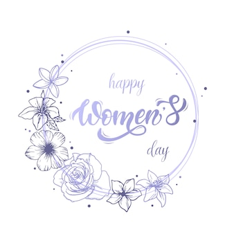 Felice carta giornata della donna