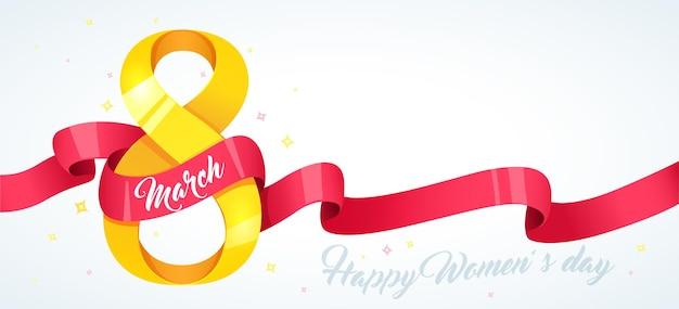Celebrazione del giorno della donna felice