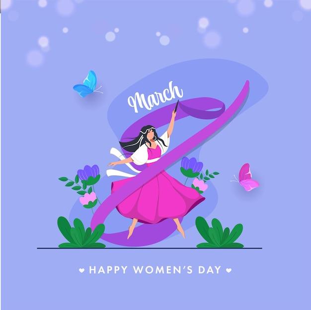 Cartolina d'auguri di felice festa della donna