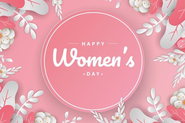 Stile di taglio carta per la giornata della donna felice.