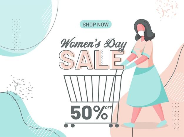 Bandiera di vendita del giorno della donna felice