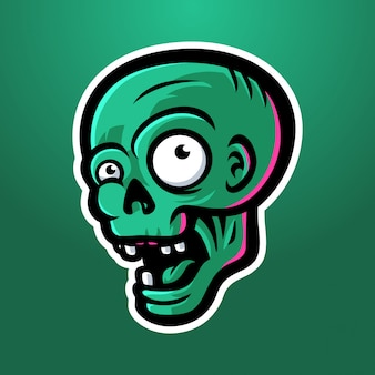 Testa di zombie felice