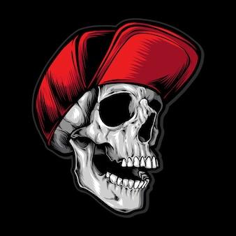 Illustrazione di marchio del cranio hardcore