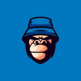 Cappello gorilla design illustrazione