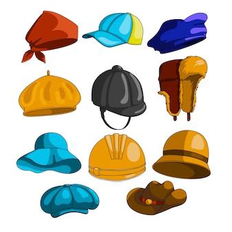 Collezione di icone di cappello