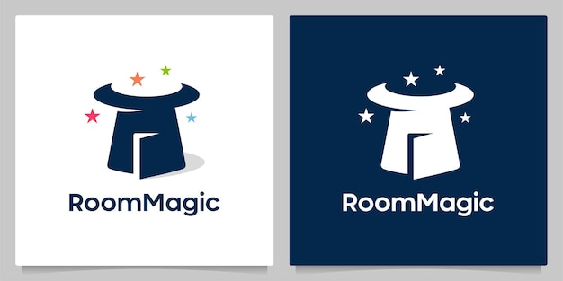 Hat magic e door negative space loo design concetti creativi