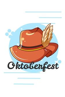 Cappello per l'illustrazione del fumetto dell'icona dell'oktoberfest