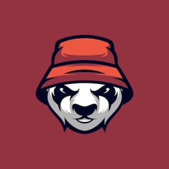 Hat panda design illustrazione