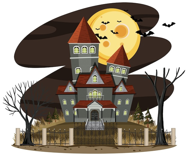 Casa stregata nella scena notturna