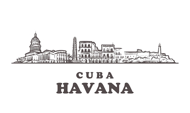 Paesaggio urbano dell'avana, cuba