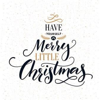 Passa un buon natale. cartolina d'auguri di tipografia con calligrafia moderna ornata.