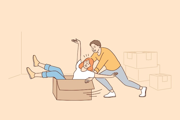 Divertirsi durante la ristrutturazione nel concetto di appartamento