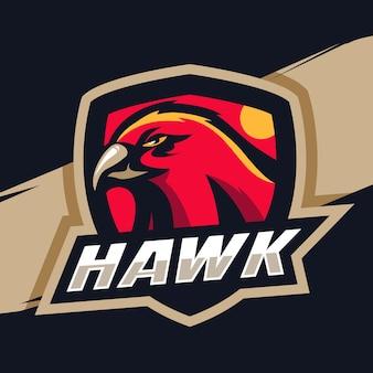 Logo della mascotte del falco