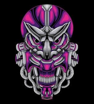 Illustrazione meccanica del diavolo testa
