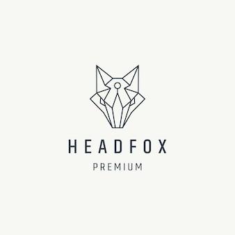 Design del logo con la linea in stile testa di volpe
