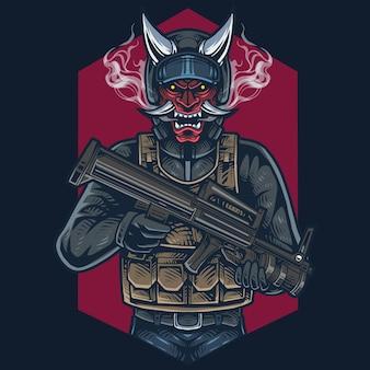 Logo della mascotte del cacciatore di teste
