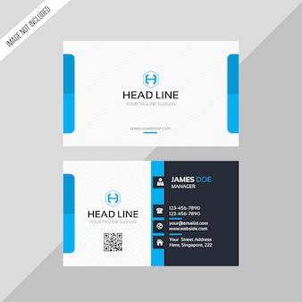 Biglietto da visita head line di colore blu