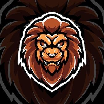 Mascotte del leone di testa