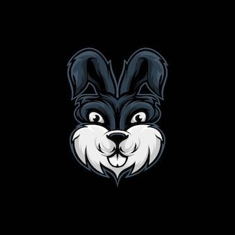Illustrazione della mascotte del coniglio della testa