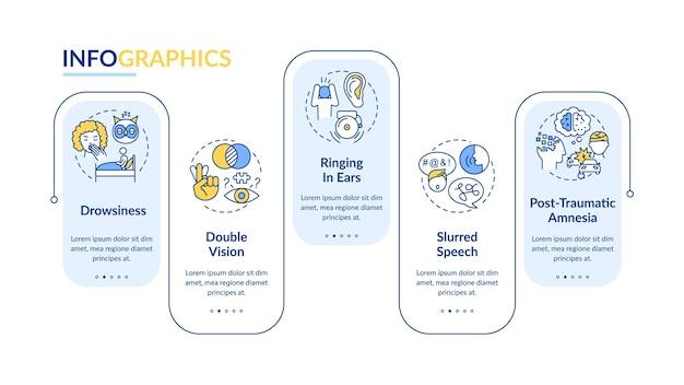 Modello di infografica trauma cranico