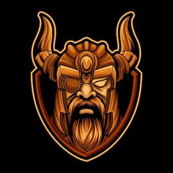 Head viking esport logo team per i giochi