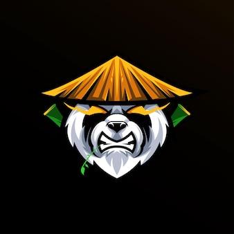 Panda del preside isolato sul nero
