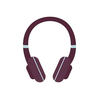 Icona delle cuffie, accessorio di moda moderno ed elemento per ascoltare la musica