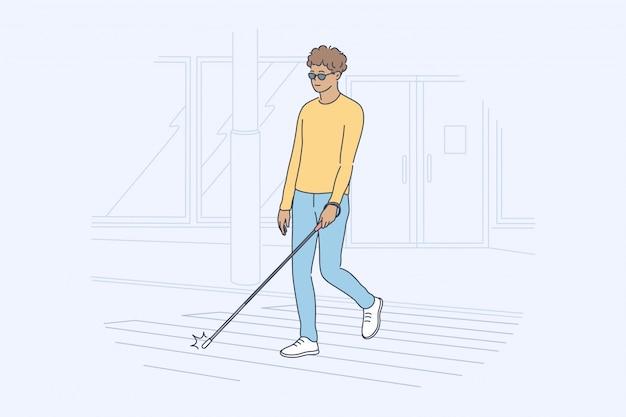 Concetto di movimento di malattia di cecità di assistenza sanitaria