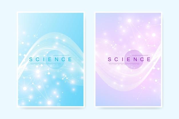Progettazione del modello di copertina dell'assistenza sanitaria per un rapporto e illustrazione di brochure medica