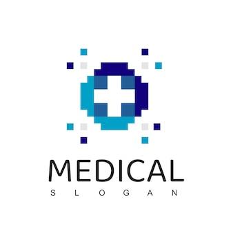 Assistenza sanitaria, modello di logo dell'ospedale