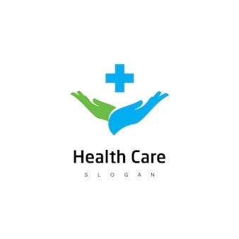 Logo di assistenza sanitaria simbolo dell'ospedale e della clinica