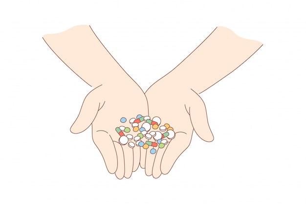 Salute, cura, medicina, dipendenza, droga, concetto di pubblicità