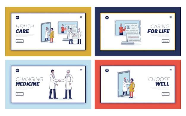 Assistenza sanitaria e concetto di medicina online