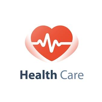 Controllo sanitario, traccia del polso cardiaco, servizio medico, diagnosi di malattie cardiovascolari