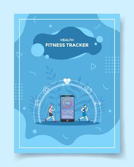 Tracker fitness salute per modello di volantino