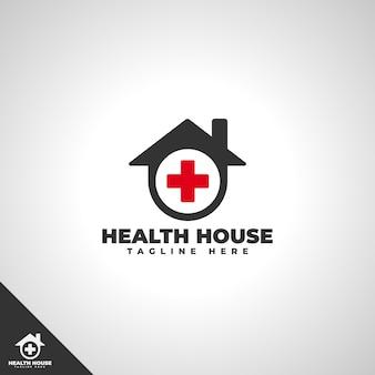 Modello di logo della casa di salute