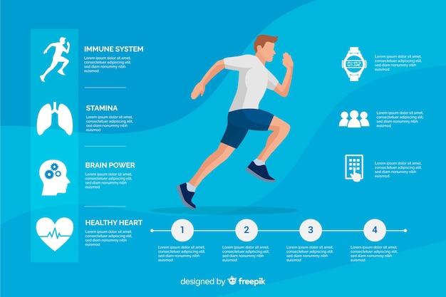 Stile piatto modello infografica salute