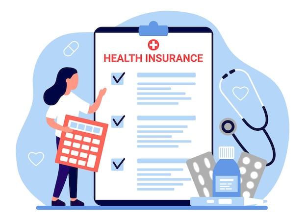 Documento di legge sulla richiesta di risarcimento fiscale per l'assicurazione sanitaria modulo di assistenza sanitaria per il conteggio delle donne