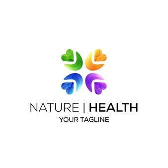 Logo della comunità sanitaria a forma di cuore e colore sfumato