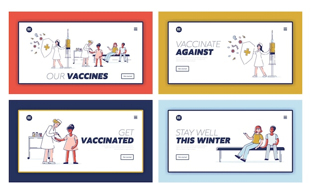 Set di pagine di destinazione per l'assistenza sanitaria