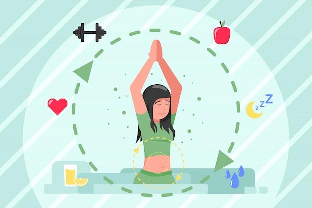 Assistenza sanitaria, medicina, metabolismo, stile di vita, concetto di dieta