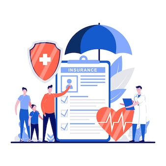 Concetti di scelta del piano sanitario con carattere minuscolo