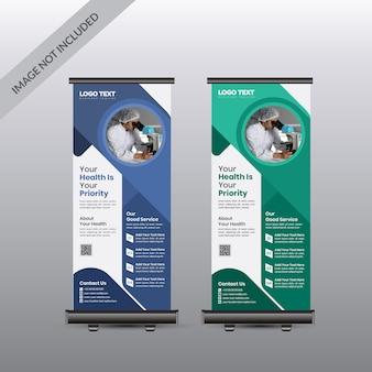 Modello di banner roll up sanitario