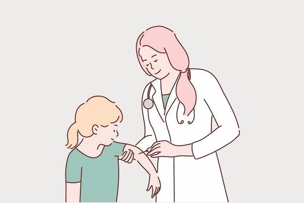 Assistenza sanitaria, vaccinazione, medicina, coronavirus, concetto di infezione