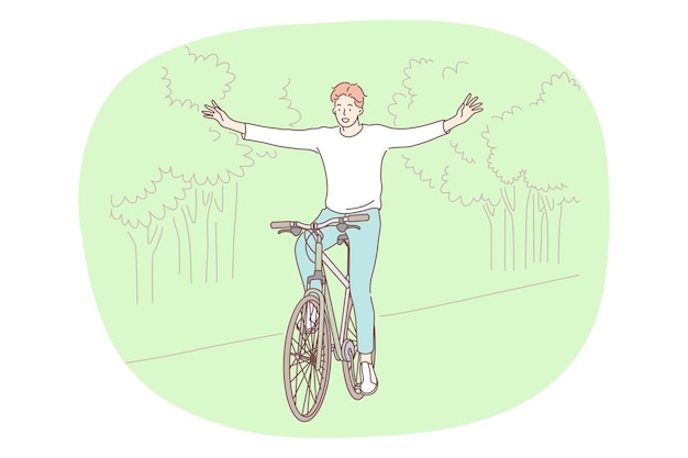 Stile di vita attivo sano, sport, concetto di hobby per il tempo libero.