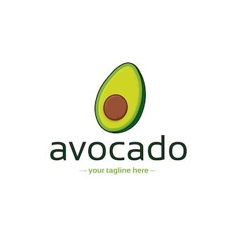 Modello di logo di avocado sano