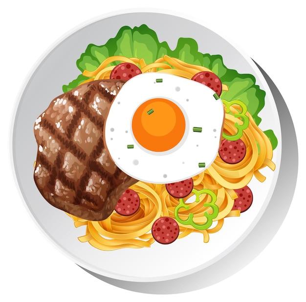Piatto colazione sano isolato