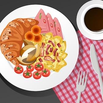 Sana colazione in tavola