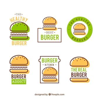 Logo di hamburger sana